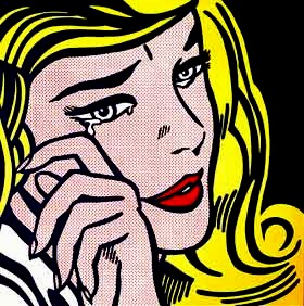 Crying Girl by Roy Lichtenstein  Enamel on Steel 1964