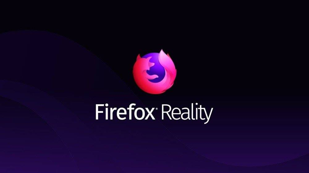 Une page avec le logo Firefox Reality