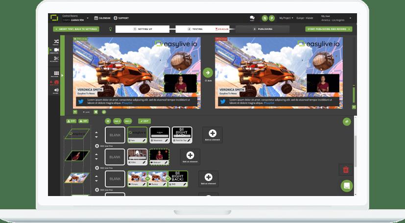 Un écran d'une diffusion de vidéo en temps réel par Easy Live