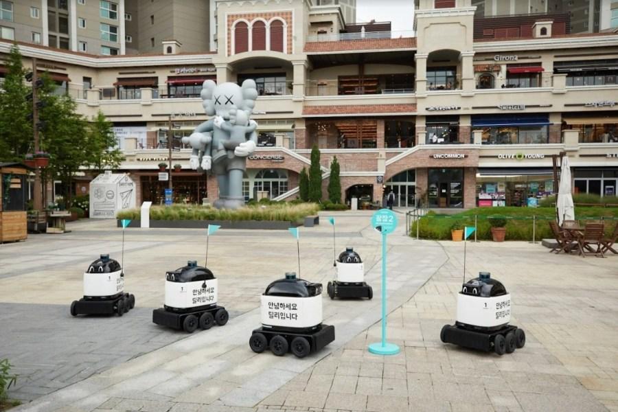Livraison de repas: Woowa Brothersperfectionne son robot pour du porte-à-porte en 2021