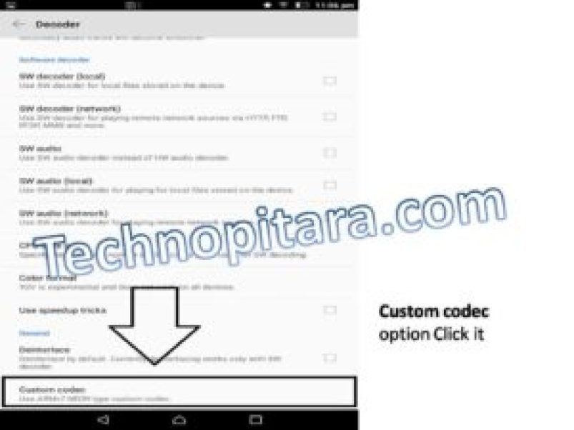 Custom codec option Click it