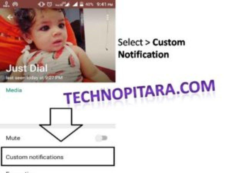 Whatsapp custom notification