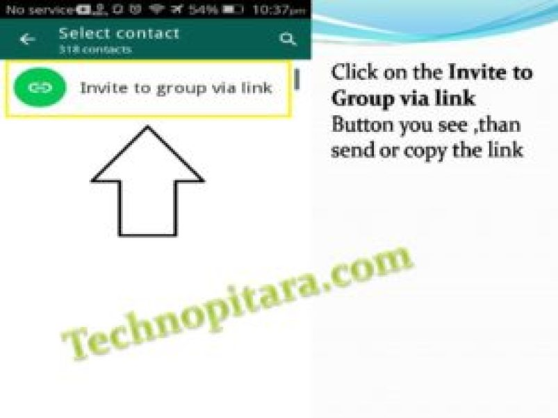 Click on the Invite to Group via link Button you see ,than send or copy the link