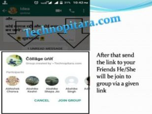 After that send the link to your Friends He/She will be join to group via a given link