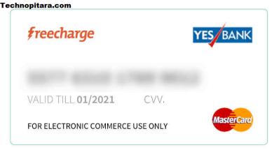 virtual credit card freecharge