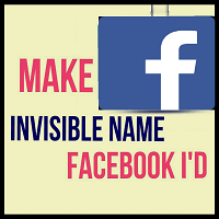 How to Make Invisible Name on Facebook Account