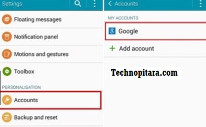 Remove and Re-add Google accounts