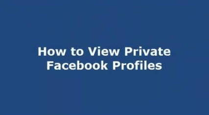 how to view private facebook photos