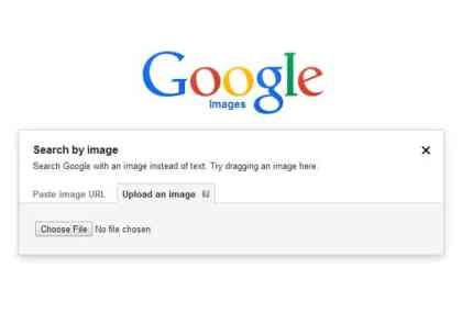 select photo and upload on google search