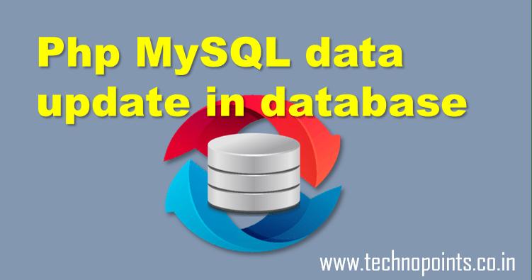 Update data in MySql using php