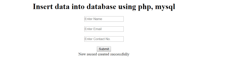 insert data into database using php mysql