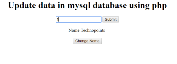 php mysql database update