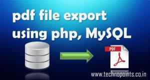pdf file generation using php, mysql database