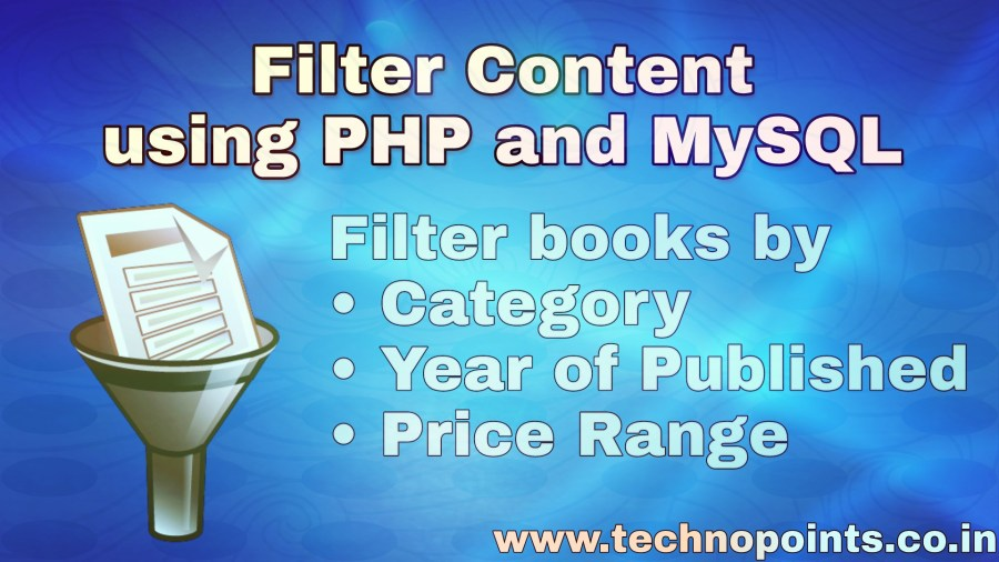 Filter Contents and Filter products using PHP