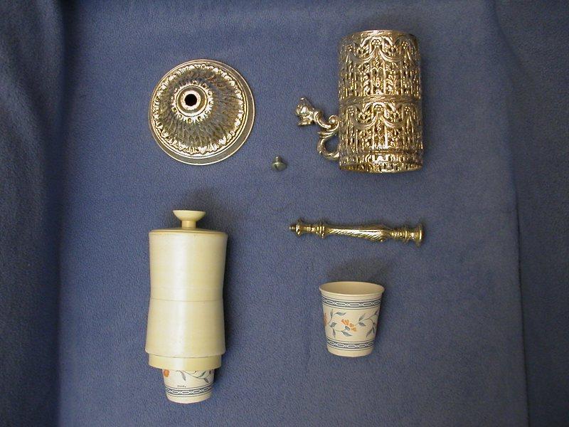 Vintage Silver Filigree Bathroom Dixie Cup DispenserHolder  Sold  Technoprimitive 3