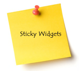Blogger Widgets Sticky