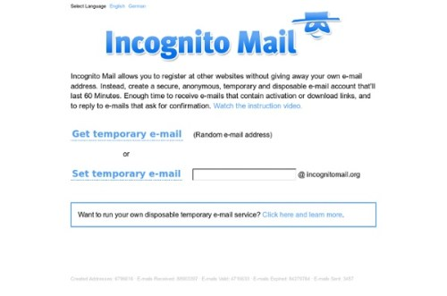 Incognito Mail- temporary mail Generator