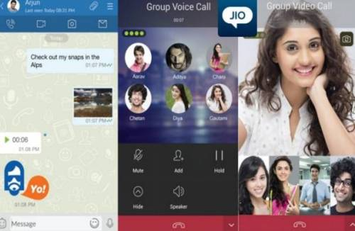 Jiochat Group Video call and conference room feature