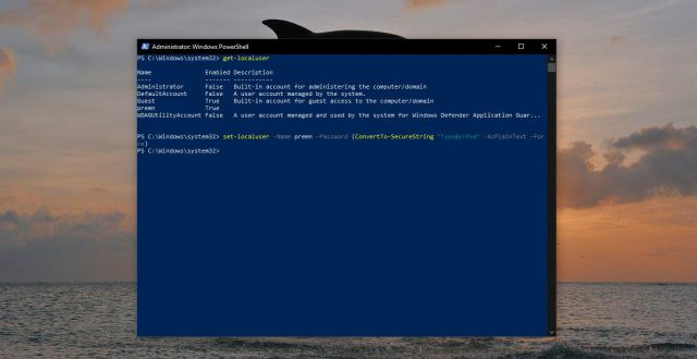 How to Reset Windows Password using PowerShell and Command Prompt
