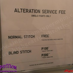 Uniqlo alteration service fee
