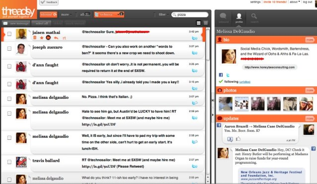 Threadsy Aggregates Email, Facebook and Twitter (plus invites!)