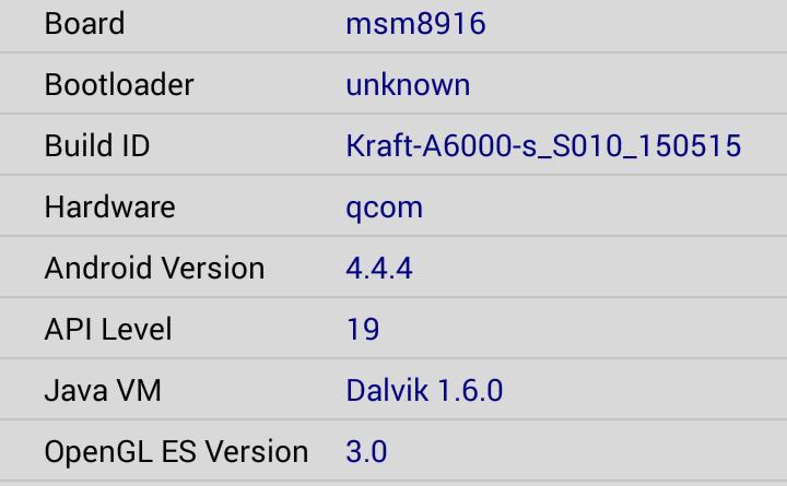 CPUZ-A600 device info