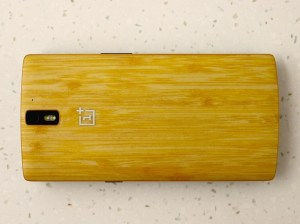 back of one plus 2 wooden