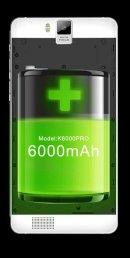 6000 mAh battery life