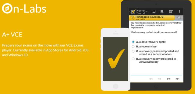A+ VCE exam Simulator