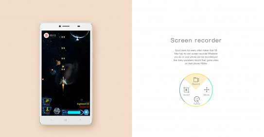 Screen Recorder feature in DOOGEE Y6 Max Smartphone