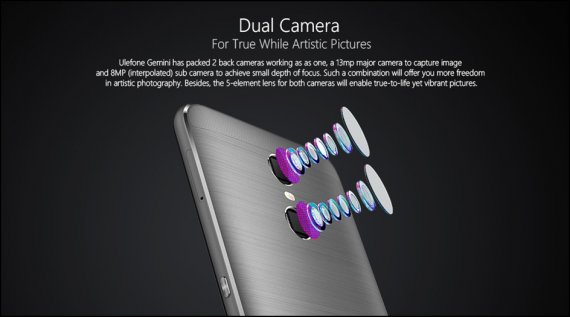 Ulefone Gemini Dual camera phone