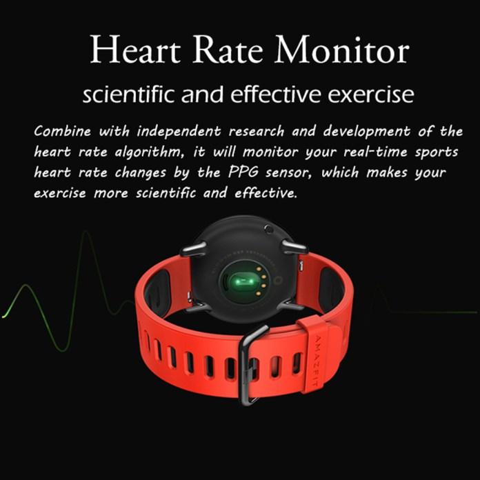 Amazfit Smartwatch Hear rate monitor