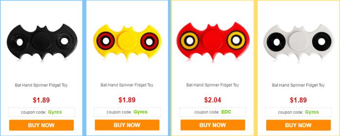 Bat Hand Spinner Fidget Toy