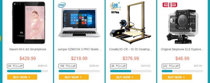 summer sale of gearbest