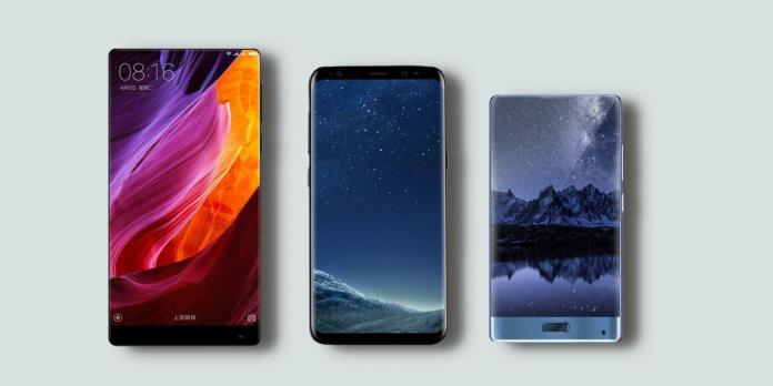 Xiaomi Mix Vs Samsung S8 Vs Doogee Mix