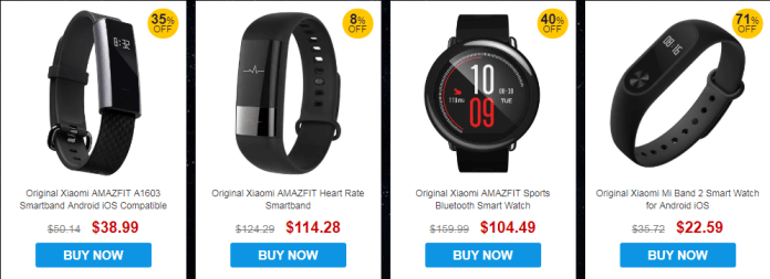 Xiaomi Smartwatches and SmartBand