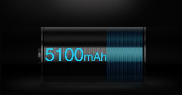 5100 mAh battery