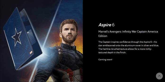 Acer Brings The Special Marvel's Avenger Edition Laptops