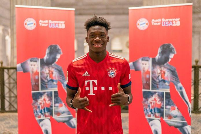17 year Canadian star Alphonso Davies signed by Bayern