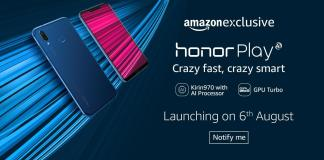 Honor's Gaming phone Honor Play to be Launched in India