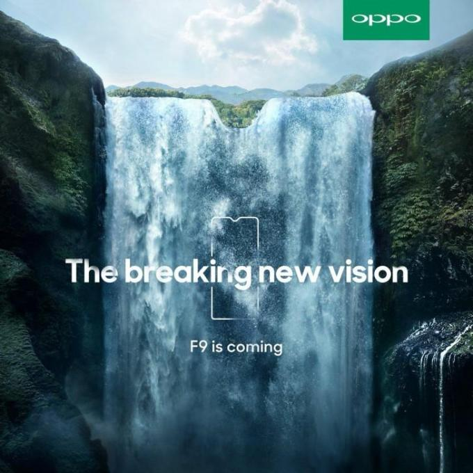 Oppo F9 Pro Is Officially Teased With A Never Seen Before Notch Design