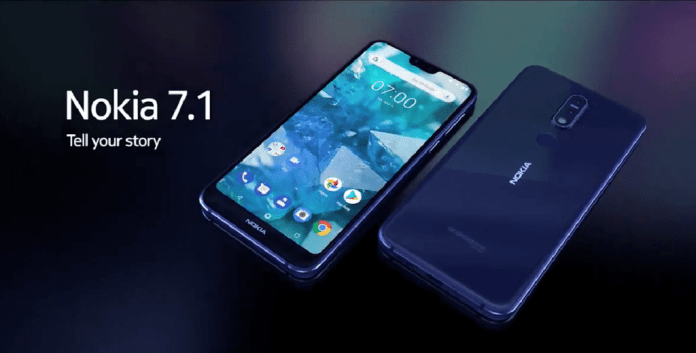 Nokia 7.1 : Launched | Specifications, Price and Availability.