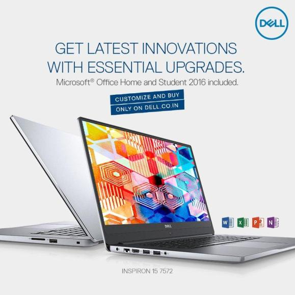 Dell Inspiron 15 7572 with 8th-Gen Intel processors launched at Rs.64,990