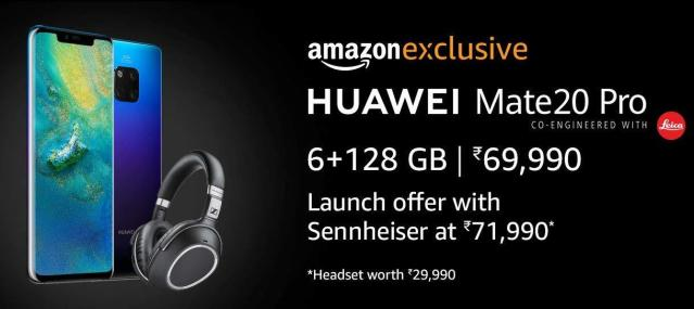 Huawei Mate 20 Pro : Sale starts from 4th December exclusively on Amazon with some exciting offers.