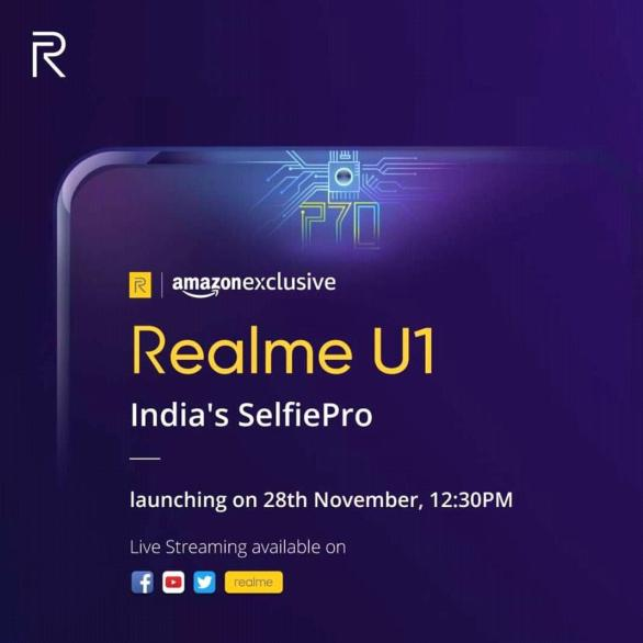 Realme teases the launch of new Helio P70 powered Realme U1