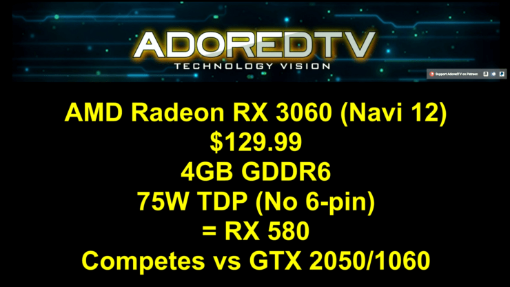 AMD Navi RX 3080, 3070 & 3060 GPU Specs & Prices Leaked