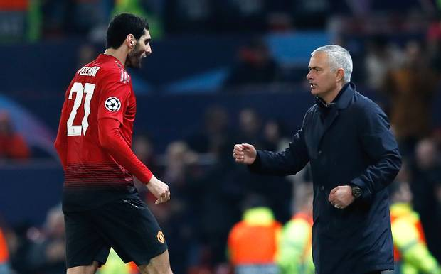 Fellaini and Mourinho