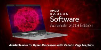 AMD Radeon™ Software Adrenalin 2019 Editionnow optimized for AMD Ryzen™ with Radeon™ Vega Graphics Processor