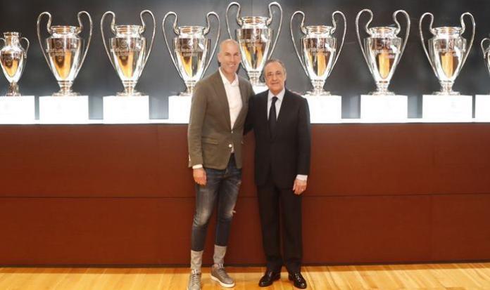 Zidane with Perez