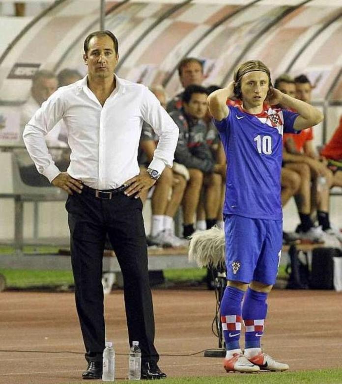 Igor Stimac with Luka Modric
